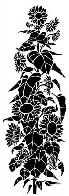Garden stencils from The Stencil Library. Stencil catalogue quick view page Damask Wall Stencils, Large Stencils, Stencil Patterns, Stencil Art, Sunflower Stencil, Sunflower Art, Stencils Online, Botanical Line Drawing, Flower Silhouette