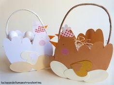 Riciclo Creativo per Pasqua : Cestini fatti con le confezioni dei formaggini