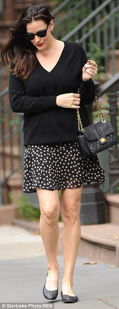 polka-dot mini-skirt
