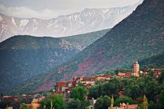 """The High Atlas is a mountain range that runs from the coast of Morocco towards Algeria. The range includes Toubkal National Park. The Berber village Imlil is a good place to start the climb of Toubkal. The tallest mountain range in North Africa, the High Atlas offers outdoor recreation opportunities year round, from snow sports in the winter to hiking in the summer. One of the best places to visit in Morocco is the Todra Gorge in the eastern part of the High Atlas, near the town of…"