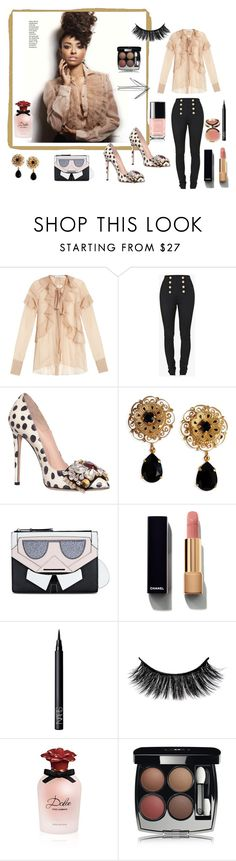 """show off"" by explorer-14442013394 on Polyvore featuring мода, Givenchy, Balmain, GEDEBE, Dolce&Gabbana, Karl Lagerfeld, Chanel, NARS Cosmetics, Ciaté и chic"