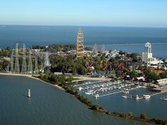 This is number 1 on my list of places I'd like to visit:  Cedar Point in Sandusky, Ohio.  It has the biggest rollercoasters in the world, and I will go on every single one of them one day.  :)