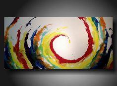 Art Original abstract Painting modern painting art painting large painting 24 X 48 Art Original, Original Paintings, Large Painting, Painting Art, Painting Inspiration, Amazing Art, Modern Art, Cool Art, Art Projects