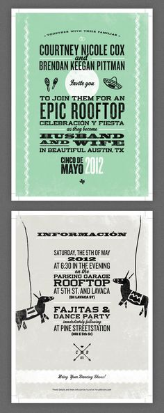 Epic Rooftop Wedding Invites