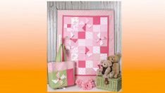 """Use Charms (5"""" x 5"""" squares) to create this 6-pocket charming baby quilt and tote.."""