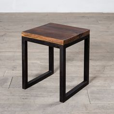 Cordova Reclaimed Wood & Iron Side Table