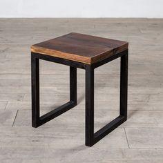 Cordova Reclaimed Wood & Iron Side Table