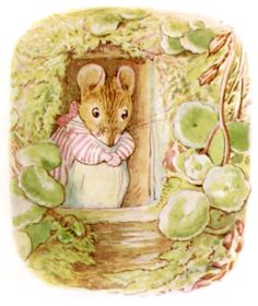 the Tale of Mrs Tittlemouse by Beatrix Potter I love this lady .her stories and illustrations/art wow Beatrix Potter Illustrations, Book Illustrations, Beatrice Potter, Peter Rabbit And Friends, Benjamin Bunny, Cute Mouse, Rose Cottage, Art For Kids, Illustration Art