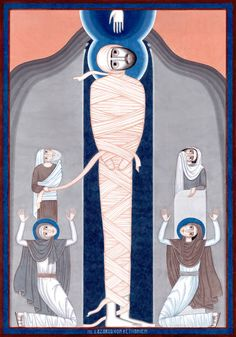 Witnesses: St Lazarus of Bethany [aka Raising of Lazarus] contemporary icon, by Nikola Saric, 2015-2016
