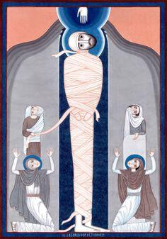 Witnesses: St Lazarus of Bethany [aka Raising of Lazarus] contemporary icon, by Nikola Saric, 2015-2016