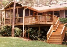what about a side deck like this that extends infant of great room window