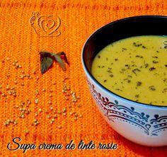 Bucataria lui Biga: Supa crema de linte rosie Cantaloupe, Fruit, Food, The Fruit, Meals, Yemek, Eten