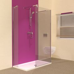Small Bathroom Ideas - Line 3 Sided 1200 x 700 Walk In Shower Enclosure. Searching for bathroom ideas for small rooms? This 1200 x 700 walk in shower enclosure with tray may be the perfect solution.