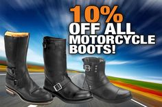 Get 10% off all motorcycle boots at www.workbootworld.com. Includes all regular and clearance priced motorcycle boots. Offer valid until Sunday, November 29th, 2014. Must use promo code: WBWOPENROAD2114  http://us7.campaign-archive1.com/?u=335cc0019701b2aa0a83474bc&id=4e3c62204b&e=e067f30c2a