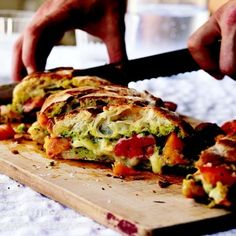 Curtis Stone's grilled cheese sandwiches with tomatoes and pesto