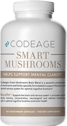 Smart Mushrooms 180 Count Organic Lions Mane Cordyceps Reishi – Immune System Booster and Nootropic Brain Supplement Wellness Formula for Natural Energy Stress Relief Memory and Liver Support *** Learn more by visiting the image link. (This is an aff