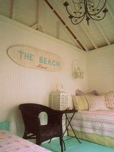 See?  If I had a beach house, I'd totally build this beach bunky and let you all stay.