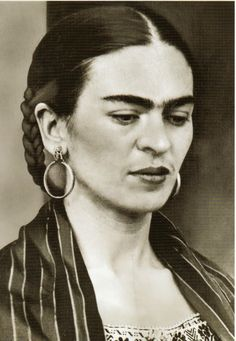 """""""I paint self-portraits, because I'm so often alone, because I am the person I know best."""" -- Frida Kahlo"""