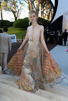 Elle Fanning in Valentino #amfARCannes 2016