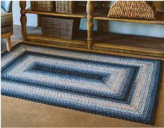 Blue Rugs, Braided Rugs, Mold And Mildew, Indoor Outdoor Rugs, Beautiful Patterns, Color, Home Decor, Decoration Home, Blue Carpet