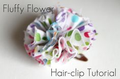 Fantastic Fluffy Frayed Fabric Flowers. Say that tounge twister 5 times fast. Free tutorial instructions.