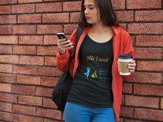 Check this out Women's Fitted Tee All I need is Yoga and Coffee