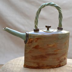 Ceramic Stoneware Sculptural Teapot Ceramic Art by ZenCeramics, $125.00