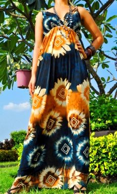 $45.00--Blue and ButterScotch Rope Print Maxi Dress. Spring is here! Get it before it's gone! Click here: http://thefirstladyboutique.net/item_208/1030-Blue-and-ButterScotch-Rope-Print-Maxi-Dress.htm