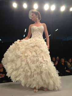 Anne Barge, fall 2013. #wedding gown
