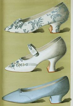 Women's shoes in blue, from 1900