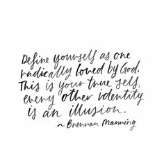 define yourself as loved by God