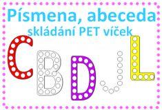 Abeceda - písmena - skládání PET víček, výzdoba třídy Peta, Logos, Logo, Maps