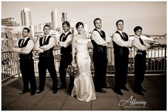 Bride with Groomsmen Poses | Pinned by Caitlin Lockey