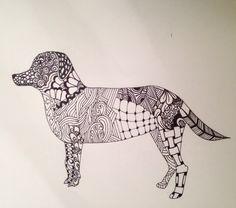 Labrador zentangle