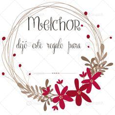 Etiquetas para regalos - Etiquetas Navidad en ESPAÑOL. Reyes Magos - hecho a mano por Zenapatch en DaWanda