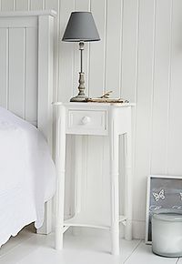 d65ba1cfce NEw England bedside with chunky knob handle on the drawer Childrens Bedroom  Furniture, White Bedroom