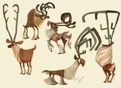 Reindeer Designs by sketchinthoughts.deviantart.com on @deviantART