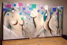 Acryl schilderij op hout