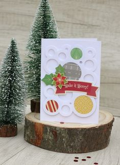 Make It Merry! Card by Caroli Schulz featuring Jillibean Soup Holly Berry Borscht and Mini Placemats