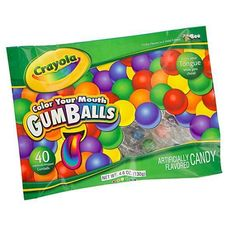 Crayola Color Your Mouth Gumballs 4.6 oz. Bag: 12 Count, $34.95.