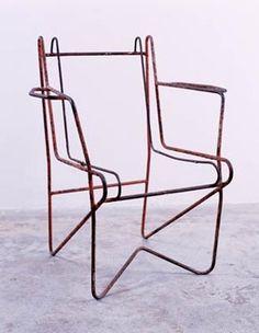 Mathieu Matégot; Unstrung Armchair Frame, 1952.