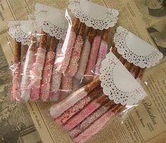 Barras de Pretzel con chocolate // Pretzel sticks with Chocolate
