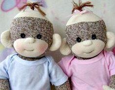 (9) Name: 'Sewing : Sock Monkey Baby
