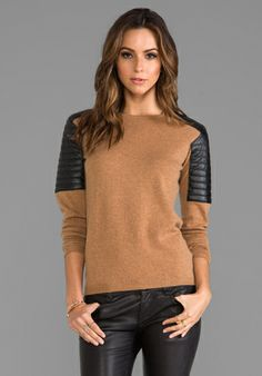 VEDA Dante Sweater in Camel OBSESSED