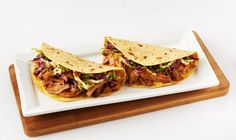 Sweet succulent Pulled pork with a creamy coleslaw mix makes this dish a winner at the dinner table. - Fall, Pork, American, Dinner, Winter, Wrap, Lunch, Mexican, Summer, Spring, Tortilla