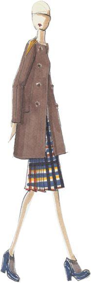 Lela Rose double-face wool knit jacket (Pantone fall 2012)