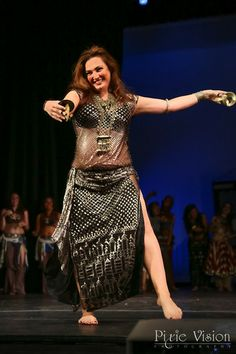 Suhaila Salimpour (Jamila's daughter) performing a classic Bal Anat dance with zills at A Tribute to Jamila Salimpour.
