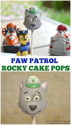 PAW Patrol Cake Pops - an adorable cake pop tutorial for making Rocky from PAW Patrol! Perfect for a PAW Patrol party!
