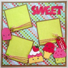 Sweet Layout by Lauren Brewer    Would be cute to document our Cold Stone Ice…