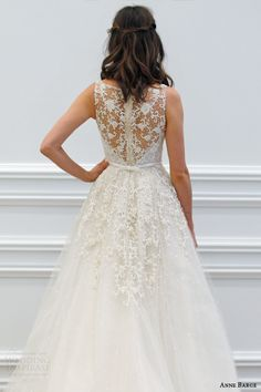 saja wedding 2016 bridal collection sleeveless wedding dress floral embroidered detail or6550 back view train keyhole